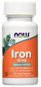 Now Foods Iron 18mg Ferrochel